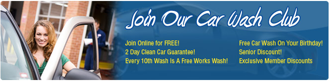 Join Our Wash Club